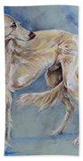 Saluki Bath Towel