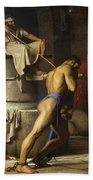 Samson And The Philistines Bath Towel