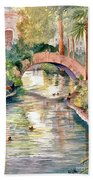 San Antonio Riverwalk Bath Towel