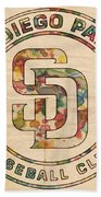 San Diego Padres Logo Art Hand Towel
