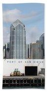San Diego Port Bath Towel