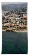 San Diego Shoreline From Above Bath Towel