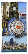 San Francisco Collage Bath Towel