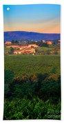 San Gimignano Vineyards Bath Towel
