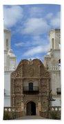 San Xavier Del Bac Mission Facade Bath Towel