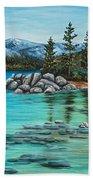 Sand Harbor Hand Towel by Darice Machel McGuire