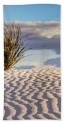 Sand Patterns And The Yucca Bath Towel