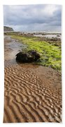 Sand Patterns On Robin Hoods Bay Beach Bath Towel