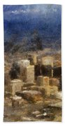 Sand Storm Approaching Phoenix Photo Art Bath Towel