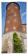 Sandomierska Tower Of Wawel Castle In Krakow Hand Towel