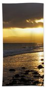 Sandy Bay At Dusk Bath Towel
