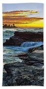 Sandy Beach Sunrise Bath Towel