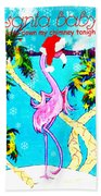 Santa Baby Flamingo Bath Towel