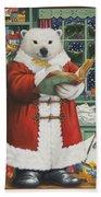 Santa Bear Bath Towel
