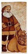 Santa Claus Bag Hand Towel by Georgeta  Blanaru