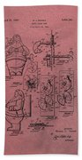 Santa Clause Toy Patent Hand Towel by Dan Sproul
