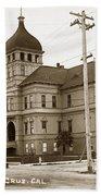 Santa Cruz High School On Walnut Street. Circa 1910 Photo By Besaw Bath Towel