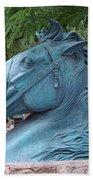Santa Fe Big Blue Horse Bath Towel