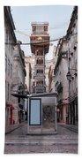 Santa Justa Lift In Lisbon Hand Towel