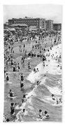 Santa Monica Beach In December Bath Towel