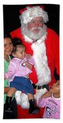 Santa Poses With Fans At Annual Christmas Parade Eloy Arizona 2004 Bath Towel