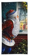 Santa's At The Window Bath Towel