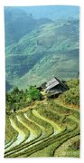 Sapa Rice Fields Bath Towel