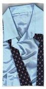 Saturday Morning - Men's Fashion Art By Sharon Cummings  Bath Towel