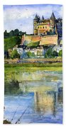 Saumur Chateau France Bath Towel