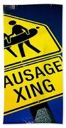 Sausage Crossing Bath Towel