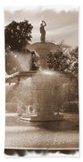 Savannah Fountain In Sepia Bath Towel
