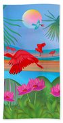 Scarlet Party - Limited Edition 1 Of 20 Bath Towel