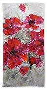 Scarlet Poppies Bath Towel