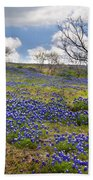 Scattered Bluebonnets Bath Towel
