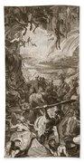Scene Of Hell, 1731 Hand Towel