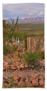 Scenic Boothill Cemetery In Tombstone Arizona Bath Towel