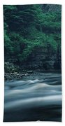 Scenic View Of Waterfall, Teesdale Hand Towel