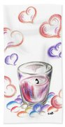 Scented Candle With Love Bath Towel
