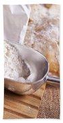 Scoop Of Flour And Fresh Bread Bath Towel