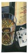Scotch And Cigars 2 Hand Towel by Debbie DeWitt