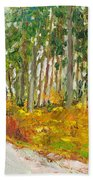 Scottish Forest In Spring Bath Towel