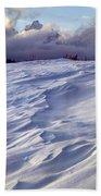 1m9347-sculptured Snow And Grand Teton Bath Towel