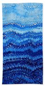 Sea And Sky Original Painting Bath Towel