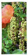 Sea Grapes And Poison Ivy Bath Towel