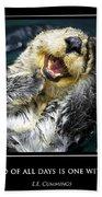Sea Otter Motivational  Bath Towel
