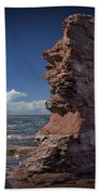 Sea Stack At North Cape On Prince Edward Island Bath Towel