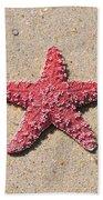 Sea Star - Red Bath Towel