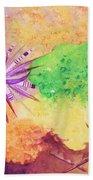 Sea Urchins - Abstract Bath Towel