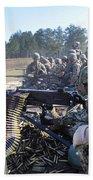 Seabees Fire The M2 .50-caliber Machine Bath Towel