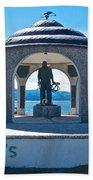 Seafarer's Memorial On Homer Spit-ak Bath Towel
